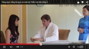Video nâng ngực bằng túi ngực Microthane bề mặt xốp tại TMV Đông Á