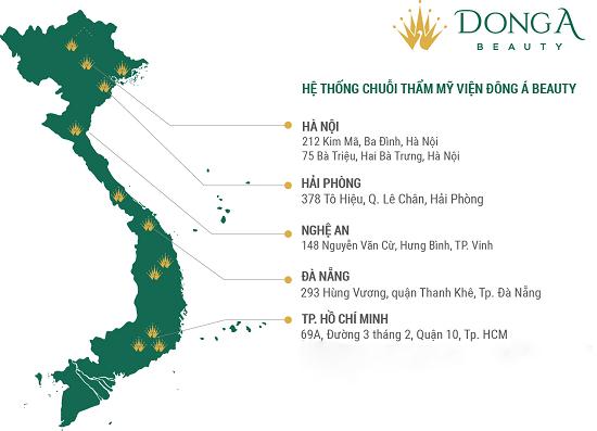TMV Đông Á – Chuỗi hệ thống thẩm mỹ lớn trên toàn quốc