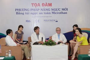 Tọa đàm phương pháp nâng ngực mới bằng túi ngực an toàn Microthane